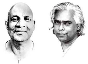 Swami Sivananda und Swami Vishnudevananda